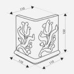 Kafel-Kar ahjupott G06 - karniis 'Moon' nurk 11 x 11 x 15